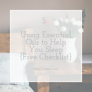 Using Essential Oils to Help You Sleep