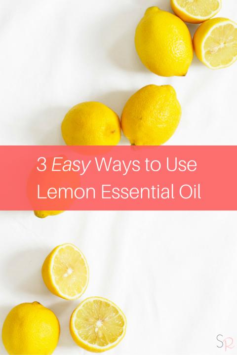3 Ways to Use Lemon Essential Oil