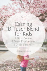 essential oil calming diffuser blend for kids