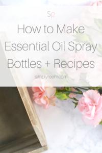 essential oil spray bottles blends