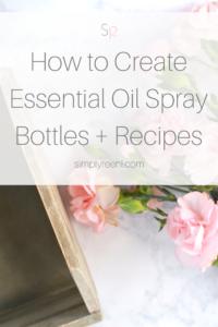 essential oil spray bottle blends