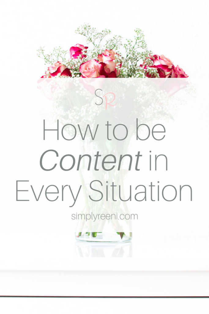 How to be content in every situation