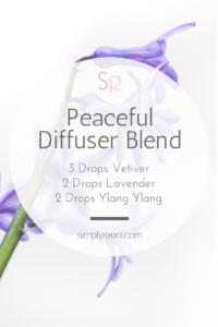 Peaceful essential oil diffuser blend