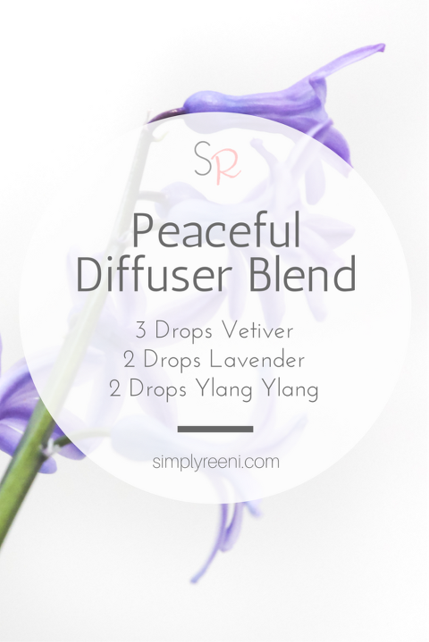 Peaceful essential oil diffuser blend