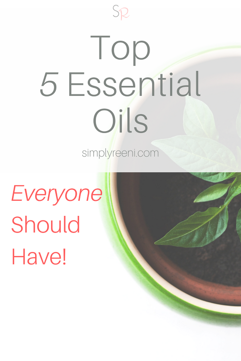 top 5 essential oils pin