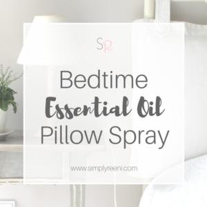 bedtime essential oil pillow spray