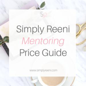 mentoring price guide
