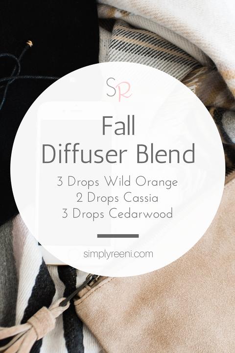 Fall essential oil Diffuser Blend Recipe