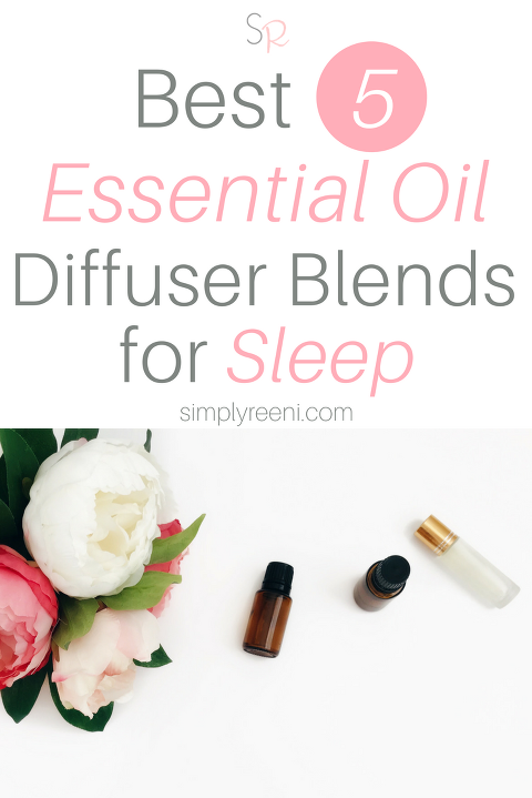 There are so many different ways to use essential oils! One of the biggest ways people use essential oils is to help get a restful night's sleep. Here are the best 5 essential oil diffuser blends for sleep along with my favorite essential oils for kids diffuser blend! Click to read more or pin for later! // www.simplyreeni.com
