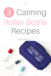 There are so many ways to use essential oils. Essential oil roller bottles are so easy to create and simple to use! Here are 3 Calming Essential Oil Roller Bottle Recipes that you can create for you and your family today! Click to read now or pin for later! // www.simplyreeni.com