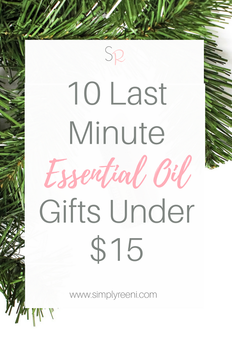 It's difficult to find gifts for the ones we love especially when it's last minute! That is why I created this last minute gift guide for essential oil to help you save time and money! Here are the top 10 last minute essential oil gifts under $15. Click to read or pin for later! // www.simplyreeni.com